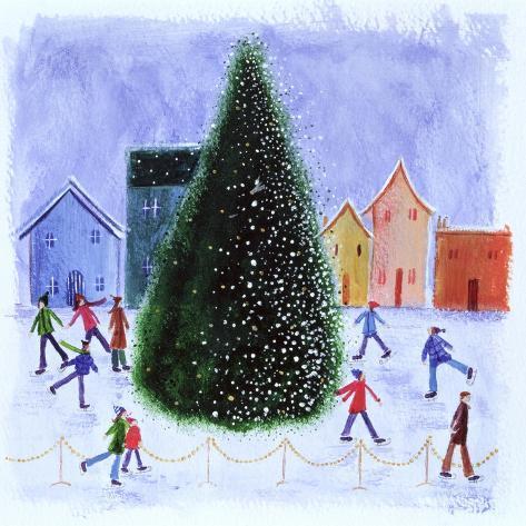 Skating around the Tree, 2003 Giclée-Druck