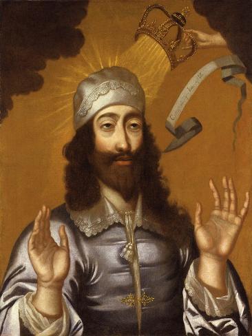 König CharlesI Giclée-Druck