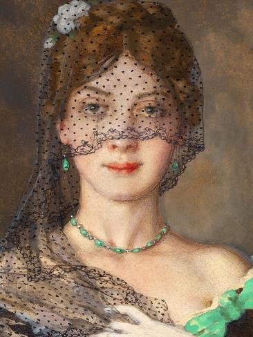 The Lady with the Veil (Manon Lescau) Giclée-Druck