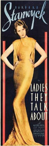 LADIES THEY TALK ABOUT, Barbara Stanwyck, 1933. Kunstdruck