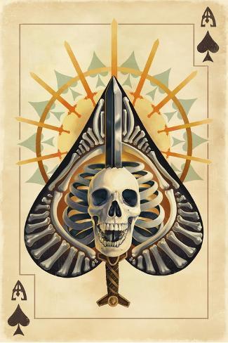 Ace Of Spades Playing Card Posters Van Lantern Press Bij Allpostersnl