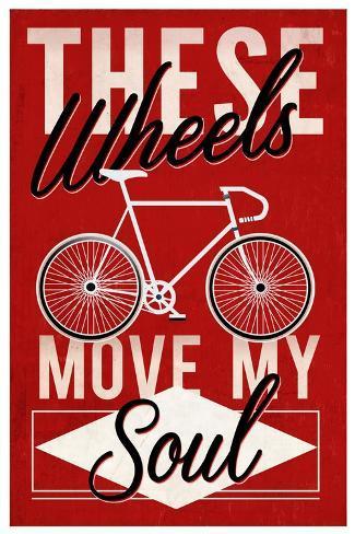 Cycling Moves My Soul - Screenprint Style Kunstdruck