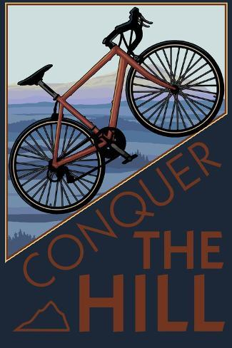 Den Berg bezwingen - Mountainbike, Englisch Kunstdruck