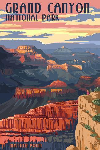 Grand Canyon National Park - Mather Point Poster