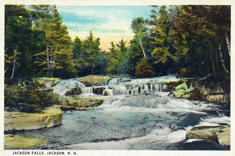 Jackson, New Hampshire, View of Jackson Falls Kunstdruck