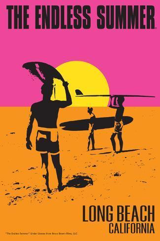Long Beach, California - The Endless Summer - Original Movie Poster Kunstdruk