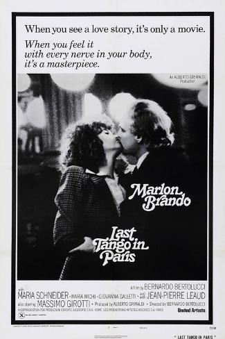 Last Tango in Paris, Maria Schneider, Marlon Brando, 1972 Kunstdruck