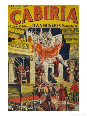 Latin Films presents Cabiria, c.1914 Kunstdruck