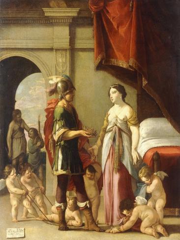 Alexander and Roxana, 1635 Giclée-Druck