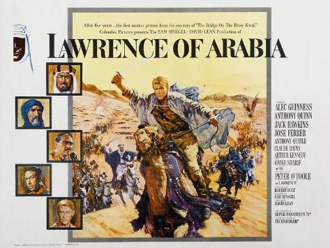 Lawrence of Arabia, 1963 Kunstdruck
