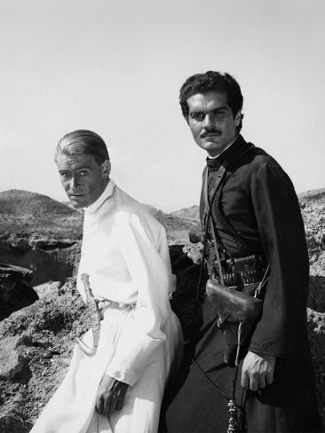 Lawrence of Arabia, Peter O'Toole, Omar Sharif, 1962 Foto