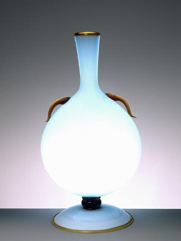 Layered Blue Glass Vase with Handles, 1931 Giclée-Druck
