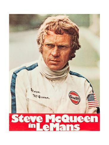 Le Mans, Steve McQueen on poster art, 1971 Kunstdruck