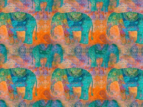 Elephants 2 Kunstdruck