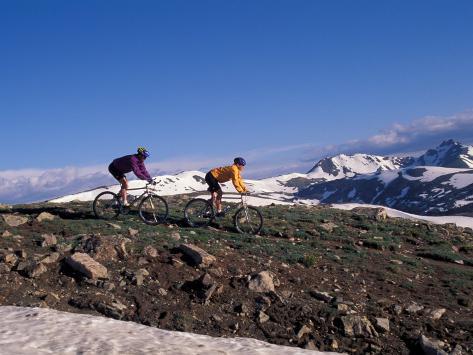 Mountain Biking in Loveland Pass, Colorado, USA Fotografie-Druck