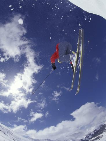 Skiing, Loveland Pass, Colorado, USA Fotografie-Druck