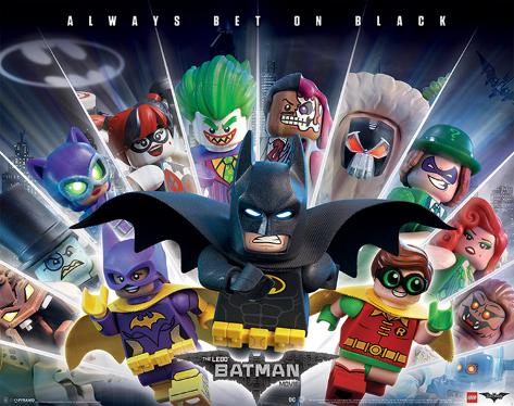 Lego Batman- Always Bet On Black Miniposter
