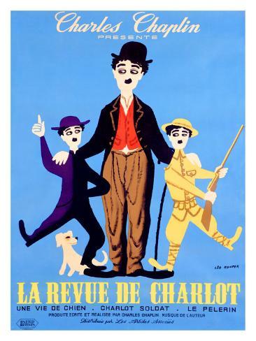Die Chaplin-Revue (französisches Filmposter) Giclée-Druck