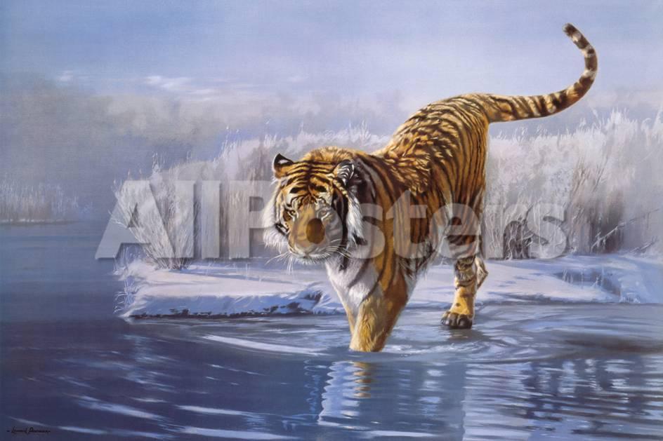 Sibirischer Tiger Bedruckte aufgespannte Leinwand von Leonard ...