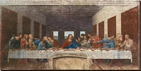 das letzte abendmahl ca 1498 bedruckte aufgespannte leinwand von leonardo da vinci bei. Black Bedroom Furniture Sets. Home Design Ideas