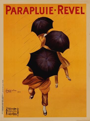 Regenschirm - Revel, ca. 1922 Kunstdruck