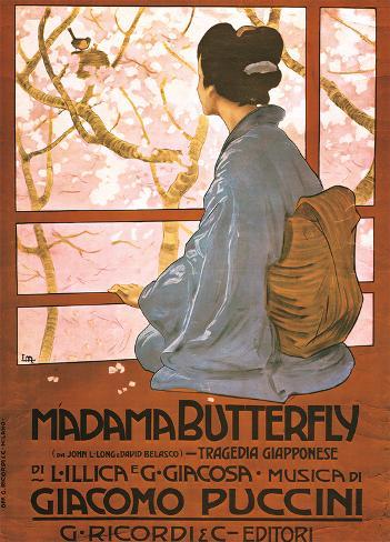 Leopoldo Metlicovitz- Vintage Madama Butterfly (Italain) Poster