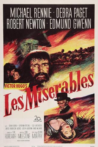 Les Miserables, Michael Rennie, (Beard), 1952 Kunstdruck
