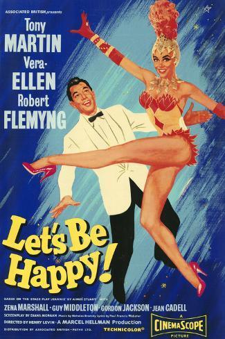 Let's Be Happy Kunstdruck