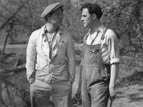 Jean Gabin and Charles Dorat: La Belle Équipe, 1936 Fotografie-Druck