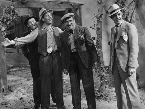 Jean Gabin, Charles Vanel, Aimos and Charles Dorat: La Belle Équipe, 1936 Fotografie-Druck