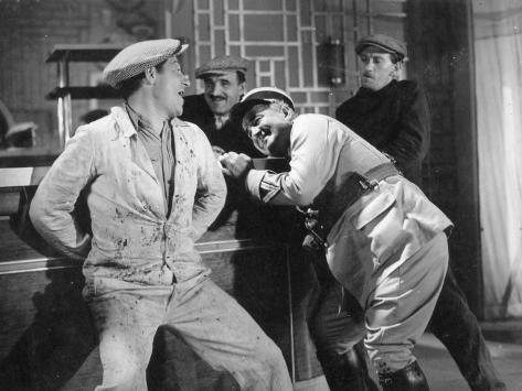 Jean Gabin, Charles Vanel, Aimos and Fernand Charpin: La Belle Équipe, 1936 Fotografie-Druck