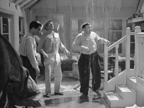 Jean Gabin, Charles Vanel and Raphael Medina: La Belle Équipe, 1936 Fotografie-Druck