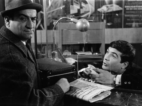 Louis de Funès and Jean-Claude Brialy: Le Diable et Les Dix Commandements, 1962 Fotoprint