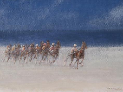 Trotting Races, Brittany, 2012 Giclée-Druck