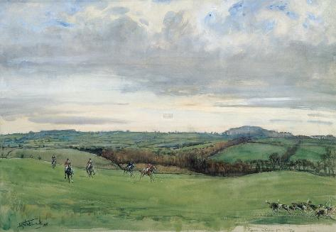 The Quorn, Coplow From Quemby Giclée-Premiumdruck