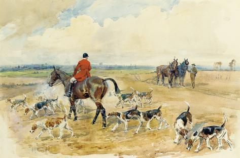 The York and Ainstay Hunt Giclée-Premiumdruck