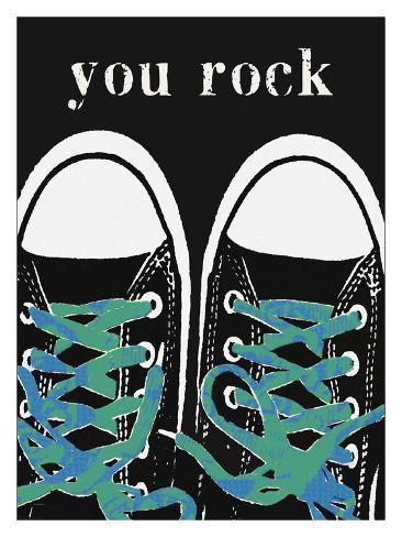 You Rock Blue Giclée-Druck