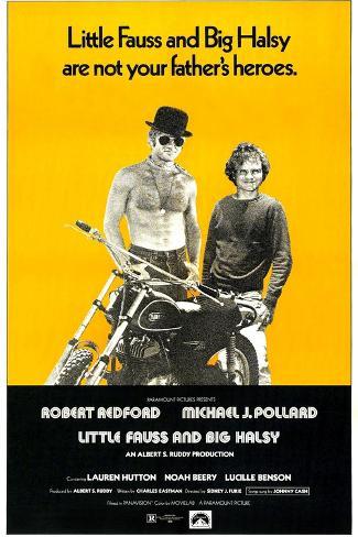 Little Fauss and Big Halsy, Robert Redford, Michael J. Pollard, 1970 Kunstdruck