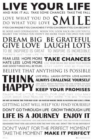 Live Your Life Posters Bij Allpostersnl