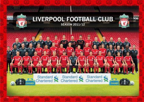 Liverpool-Team 2011/2012 Dreidimensionale Poster