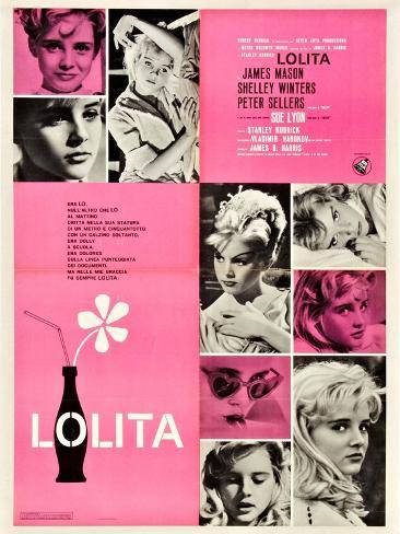 Lolita, Italian Movie Poster, 1962 Kunstdruck