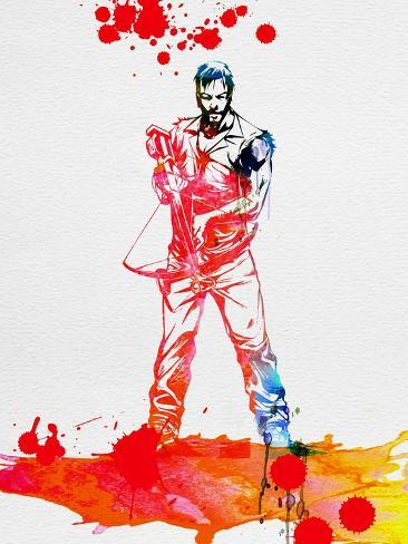 Daryl Dixon Watercolor Kunstdruck