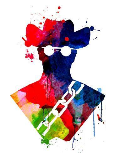 Django Watercolor Kunstdruk