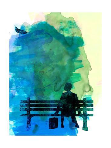 Forrest Watercolor 1 Kunstdruck