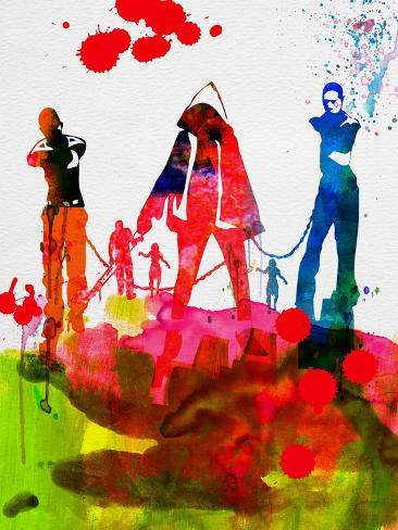Michonne Watercolor Kunstdruck