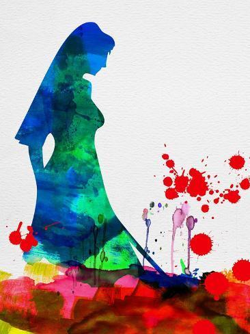The Bride in Blood Watercolor Kunstdruck