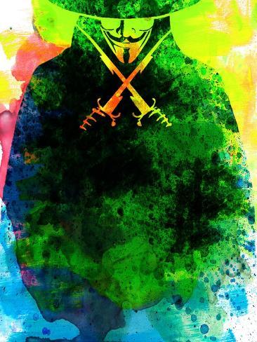 Vendetta Watercolor 2 Kunstdruck