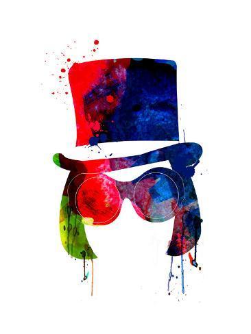 Willy Watercolor Kunstdruck