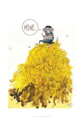 Greedy Monkey Kunstdruck