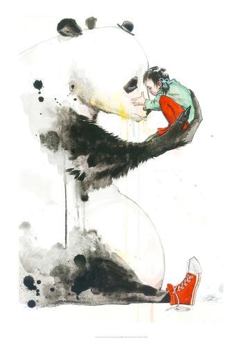 Panda Girl Kunstdruck